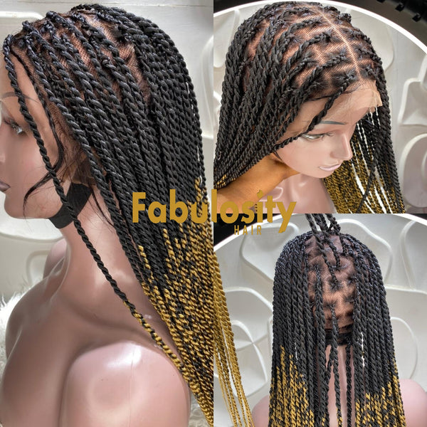 Knotless twist full lace wig (Davina)