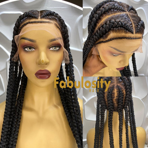Pop smoke braided wig (Pearl)