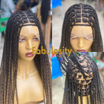Knotless braided wig HD 3 tone Ombre