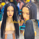 Knotless box braided wig closure