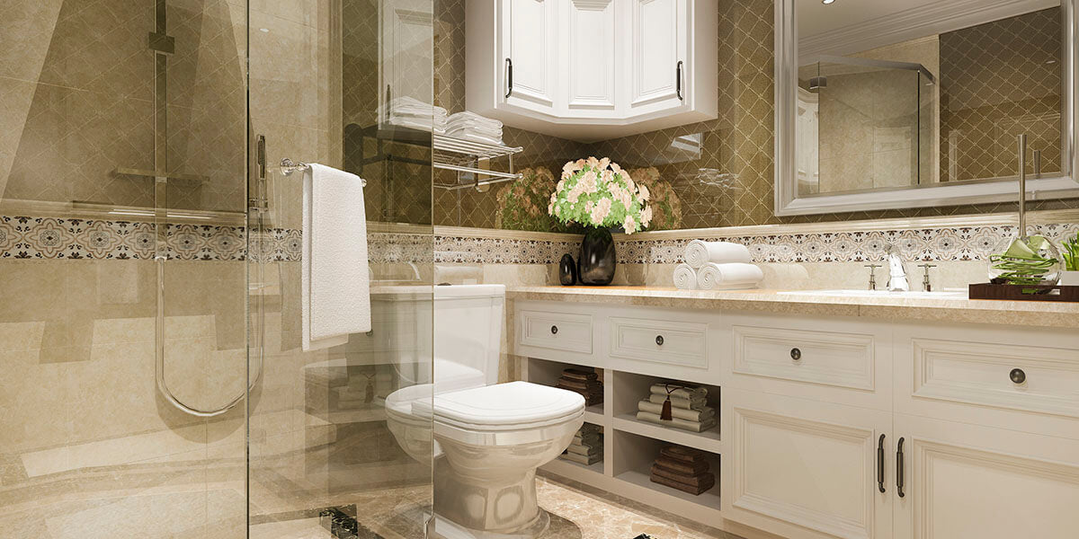 How to use vintage style pater in bathroom?