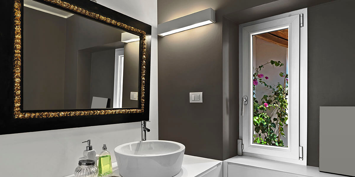 Where to place stylish mirror?