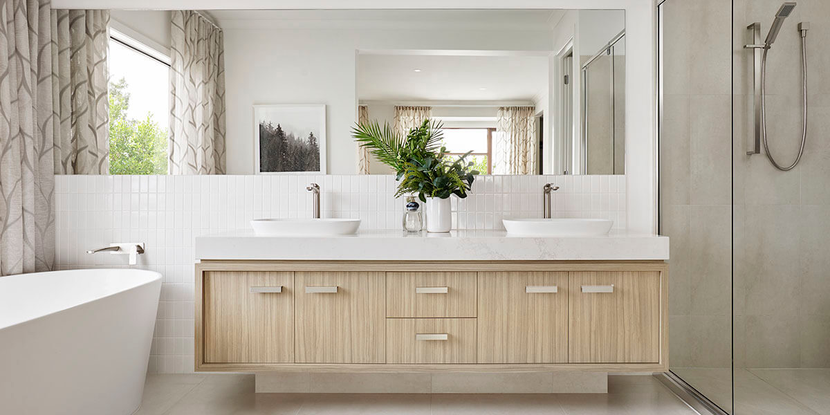 How to place plants in bathroom?