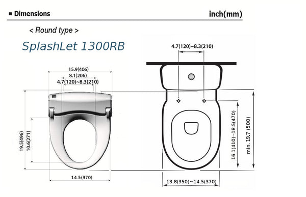 Intelligent Shower Toilet Seat SplashLet 1300RB - BrookPad United Kingdom