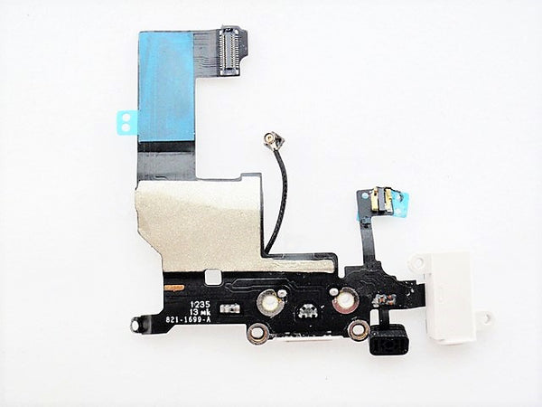 Apple iPhone 5 White Power Connector Audio Charging Board Flex Cable - ITPartStore Canada .ca