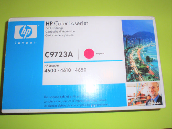 HP C9723A New Toner Cartridge OEM Genuine Magenta LaserJet 4600 4650 - ITPartStore Canada .ca
