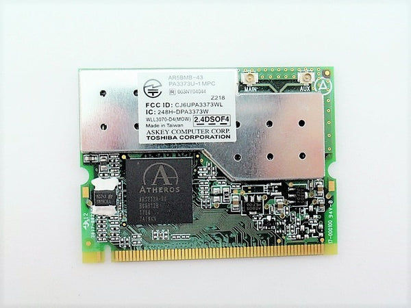 Toshiba V000041960 Wireless WIFI WLAN Card Mini PA3373U-1MPC AR5BMB-43