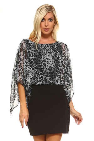 Women's Sheer Leopard Print Dress