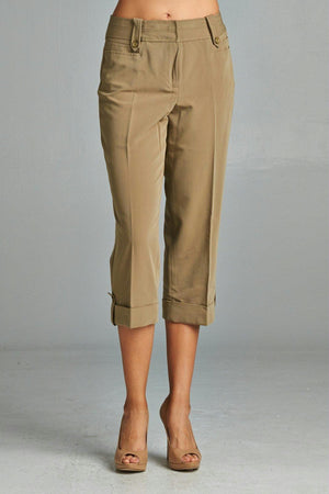 Women's Capris with Cuffed Hem