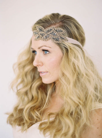 """Janice"" Beaded Headband"
