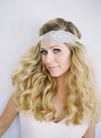 """Yasmin"" Beaded Crystal Headband"