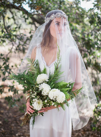 "Green Wedding Shoes ""Stormie"" Crystal Embellished Veil"