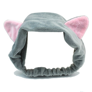Wash and Makeup Elastic Hair Band Cat Ears