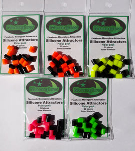 Moonglow plaice attractors- soft beads for plaice and flatfish