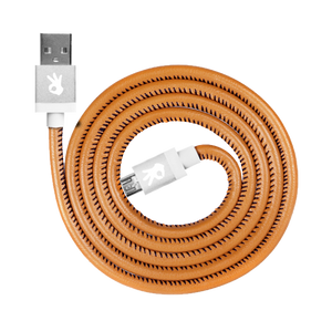 Brown Genuine Leather Lightning (8 Pin) Cable