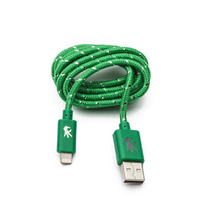 Lightning ( 8 pin ) Green Everlasting Nylon Cable