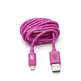 Lightning ( 8 pin ) Pink Everlasting Nylon Cable