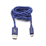 Micro USB Blue Everlasting Nylon Cable