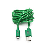 Micro USB Green Everlasting Nylon Cable