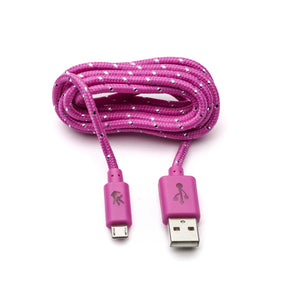 Pink Micro USB  Everlasting Nylon Cable