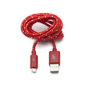 Red Micro USB Everlasting Nylon Cable