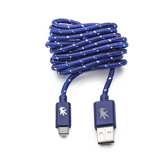 USB Type-C Blue Everlasting Nylon Cable