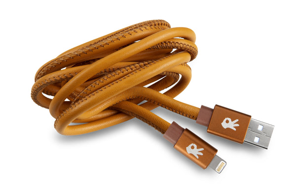 Brown Leather Lightning (8 Pin) Cable