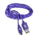 Micro USB Purple Everlasting Nylon Cable