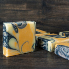 Autumn Sunset // Ginger Lime + Charcoal & Clay Soap