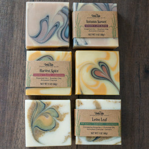 Boxed Soap Set: 3 Hand Cut Bars with Essential Oils, Natural Colorants