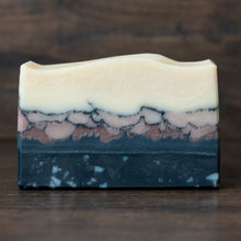 Load image into Gallery viewer, Black Pepper & Grapefruit Charcoal + Purple Clay Soap // Rocky Shore