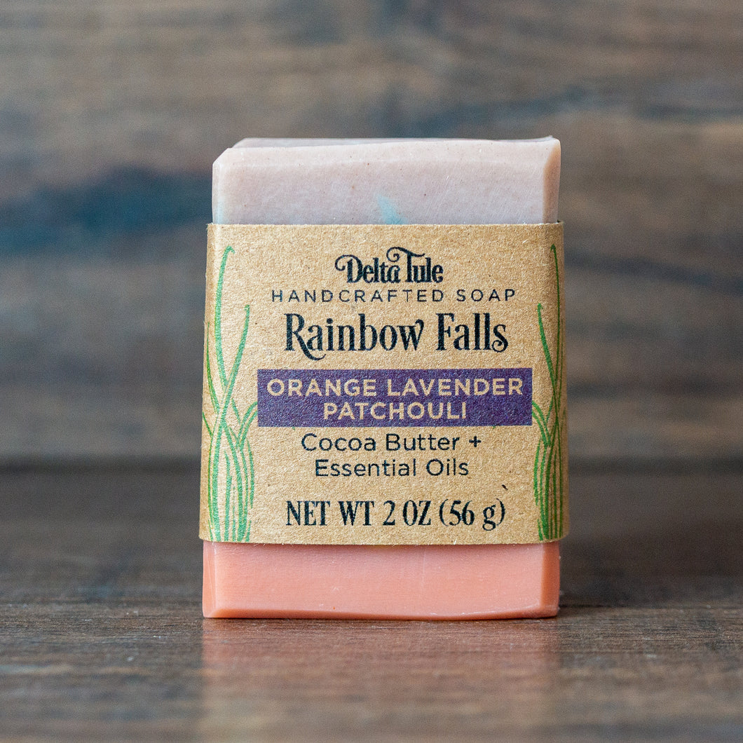Rainbow Falls // Orange Lavender Patchouli Half-Bar Soap