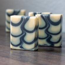 Load image into Gallery viewer, Tea Tree Mint & Charcoal Small Shimmy Soap