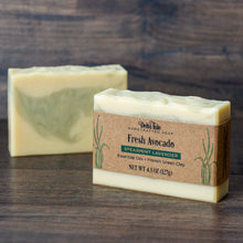 Load image into Gallery viewer, Fresh Avocado Spearmint Soap with French Green Clay