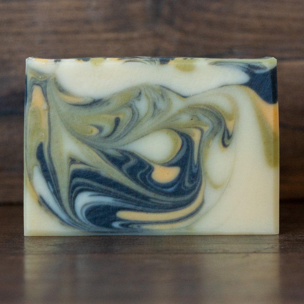Levee Leaf // Cedar Rosemary Soap with Charcoal, Clay & Spinach