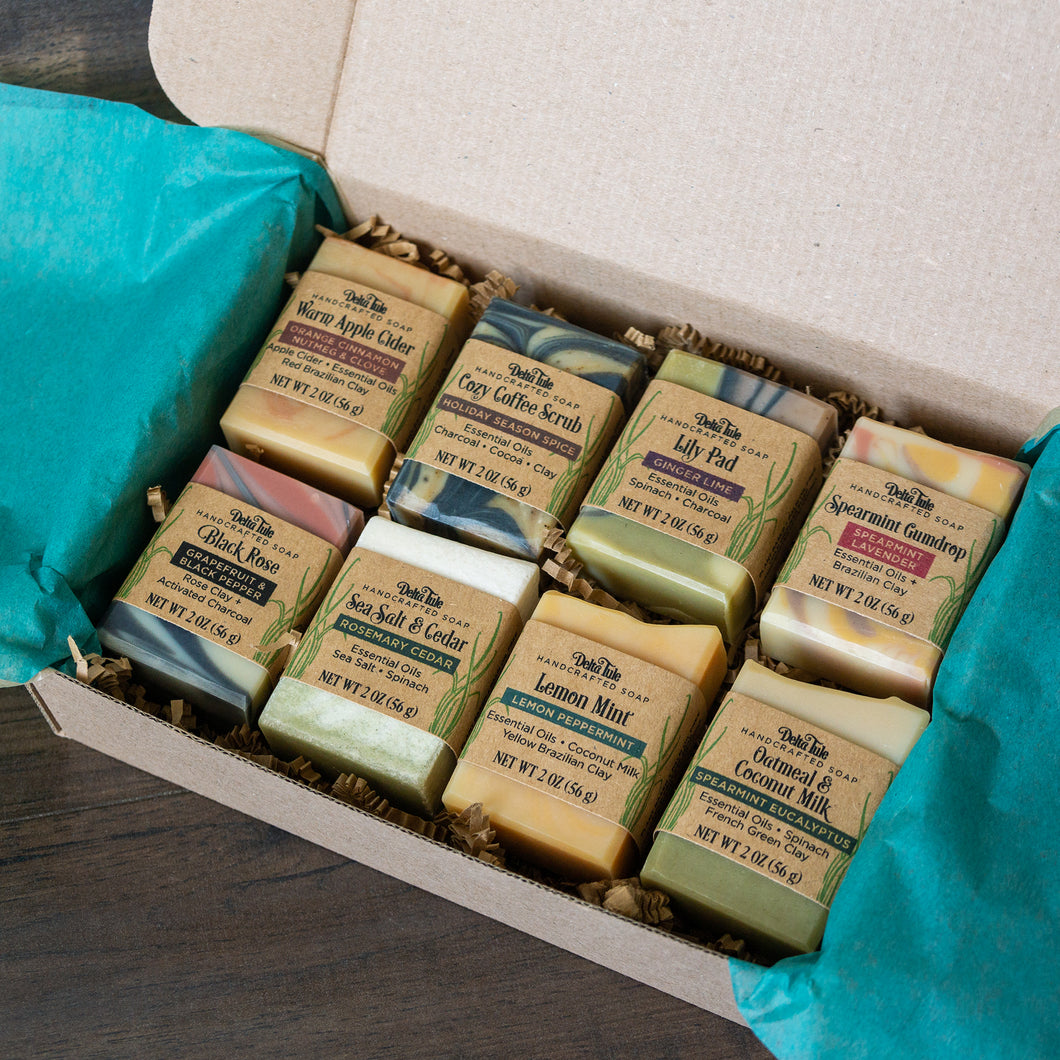Boxed Set of 8 Half-Size Handmade Soaps