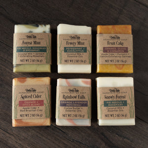 Mini Soaps // Half Size Natural Soap Bars with Essential Oils