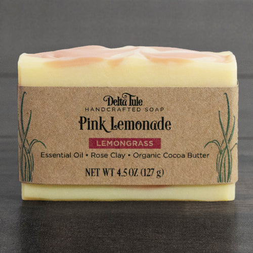 Pink Lemonade // Lemongrass & Rose Clay Double Butter Soap
