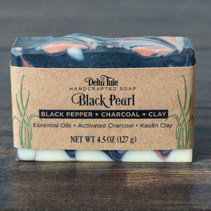 Black Pearl // Black Pepper & Grapefruit Charcoal + Rose Clay Soap