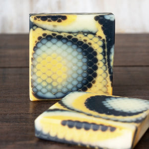 Lemon Lavender Rosemary Charcoal + Clay Soap // Fishnet
