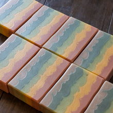 Load image into Gallery viewer, Rainbow Falls // Orange Lavender Patchouli Double Butter Soap