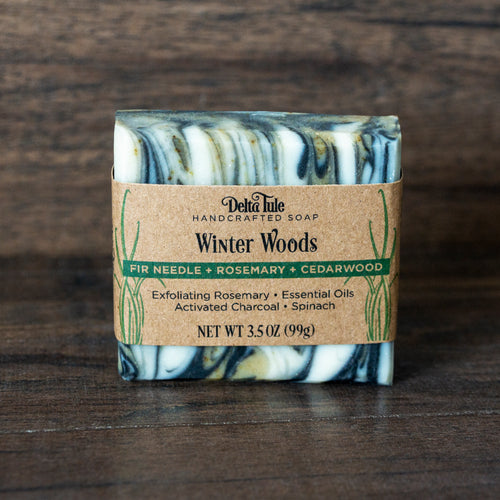 Winter Woods // Rosemary, Fir Needle & Cedarwood + Charcoal & Spinach Soap