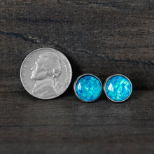 Load image into Gallery viewer, Mermaid Scales Stainless Steel Stud Earrings