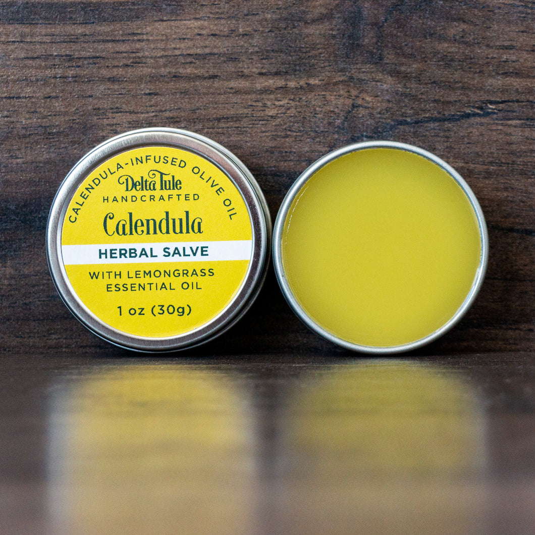 Lemongrass Calendula-Infused Herbal Salve