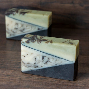 Rosemary Mint Cedar Soap with French Green Clay // Driftwood
