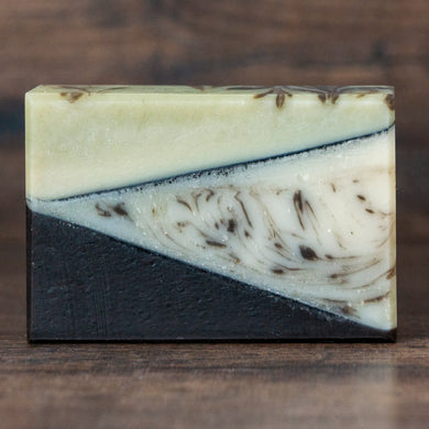 Rosemary Cedar Spearmint Soap with French Green Clay // Driftwood