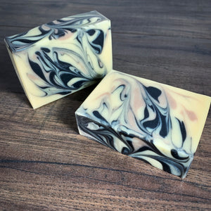 The Meadows // Herbal Citrus Coconut Milk Soap with Charcoal & Clay