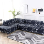 Elastic Stretch L Shaped Couch Slipcover Case Cover Covers Chaise Longue Corner Sofa for Living Room Sofa L Shape Pets Corner Geometric Couch - HomeSofaCover