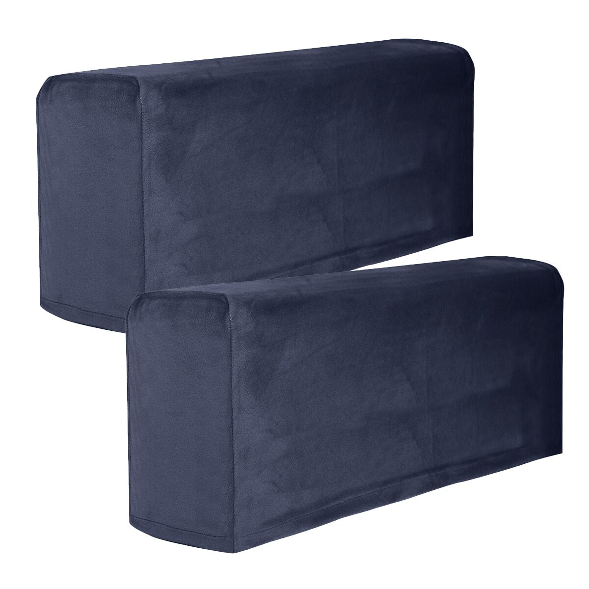 2Pcs Universal Sofa Armrest Cover Elastic Armrest Protector Solid Color Armrest Protective Cloth 1 Pair Sofa Covers Removable Arm Stretch Couch Chair Cover
