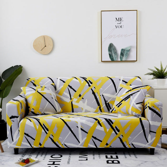 Elastic Sofa Stretch Stretchable Covers - Patterns HomeSofaCover Set Cotton Universal Sofa Covers for Living Room Armchair Corner Couch Cover Corner Sofa Chaise Longue - HomeSofaCover
